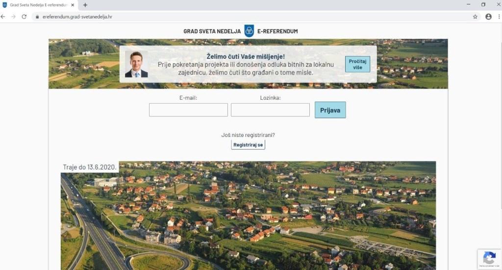 Grad Sveta Nedelja, prvi u Hrvatskoj, uvodi alat za savjetodavni e-referendum