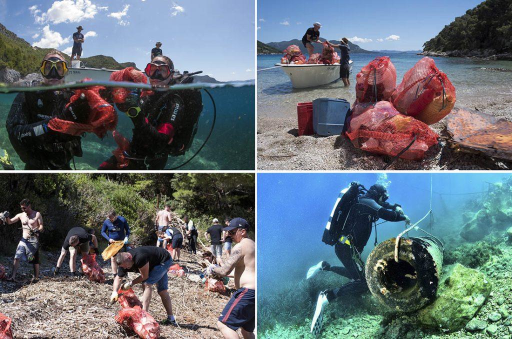 Think Green na Pelješcu: Kod Trstenika 40 ronilaca izvadilo preko 400 vreća plastičnog otpada!