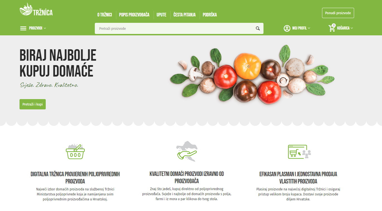 Ministarstvo poljoprivrede pokrenulo Tržnica.hr