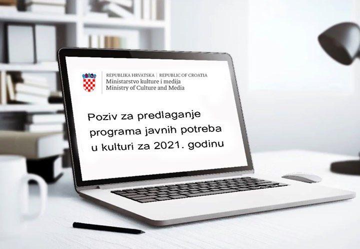 Raspisan Poziv za predlaganje programa javnih potreba u kulturi Republike Hrvatske za 2021. godinu
