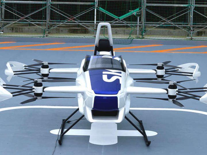 Japanska tvrtka prvi put uspješno testirala leteći automobil s posadom