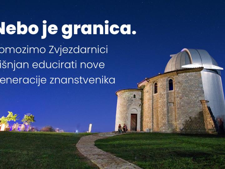Nebo je granica: pomozimo Zvjezdarnici Višnjan educirati nove generacije znanstvenika