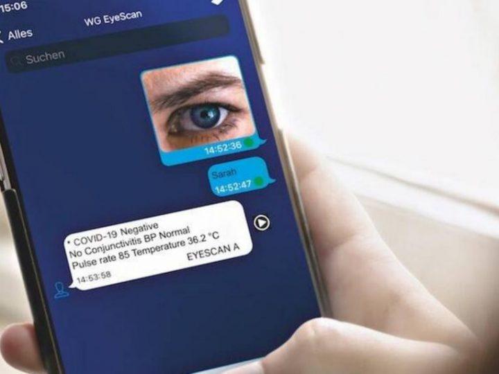 Njemačka tvrtka skenira oko telefonom i otkriva nosioca virusa COVID 19