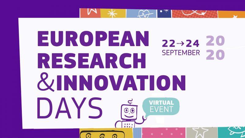 Otvorene su prijave za European Research and Innovation Days 2021.