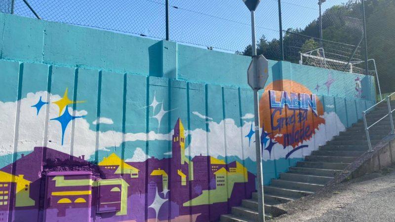 LABIN – GRAD ZA MLADE: Predivan mural s motivima Labina na Đilu