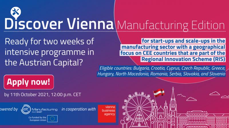 Prijavite se na dvotjedni program u Beču za mlada poduzeća u području proizvodnje